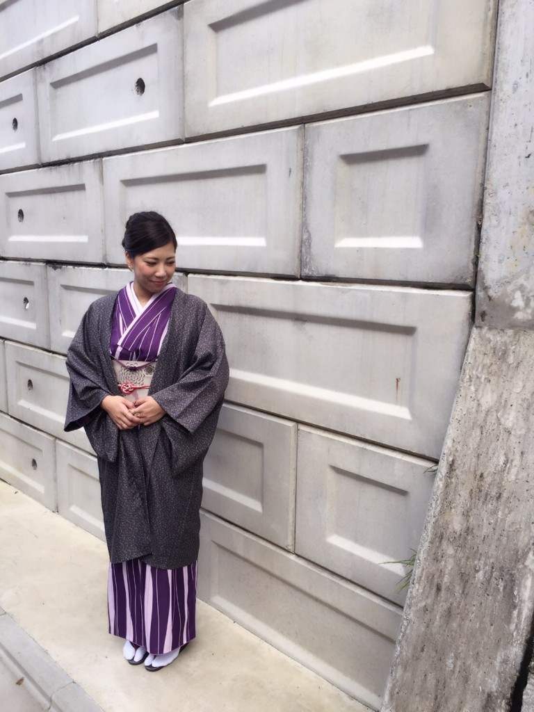 長羽織姿で八坂庚申堂へ❣2017年10月25日2