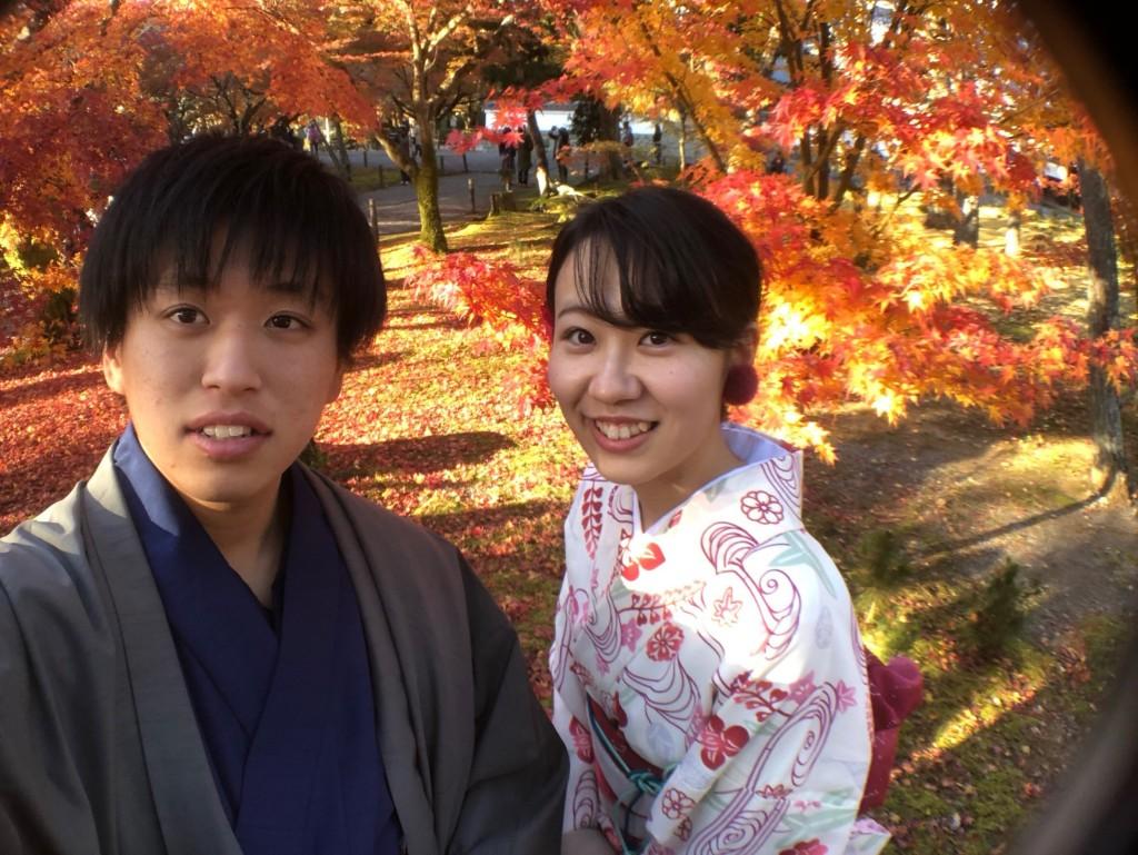 皆様、秋の紅葉ライトアップへ❣2017年11月23日6
