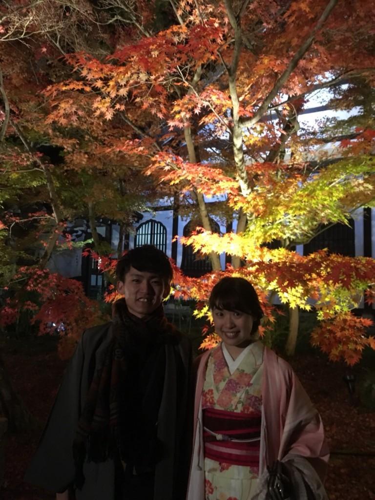 皆様、秋の紅葉ライトアップへ❣2017年11月23日23