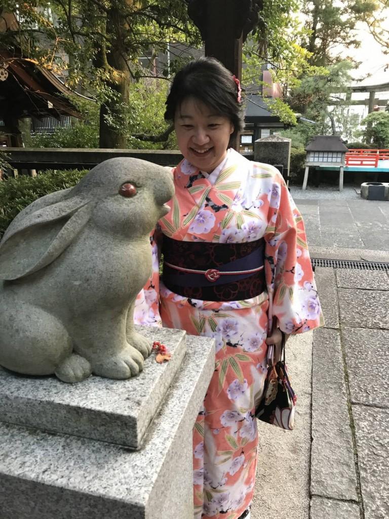 うさぎ神社 岡崎神社へ❣2017年11月27日5