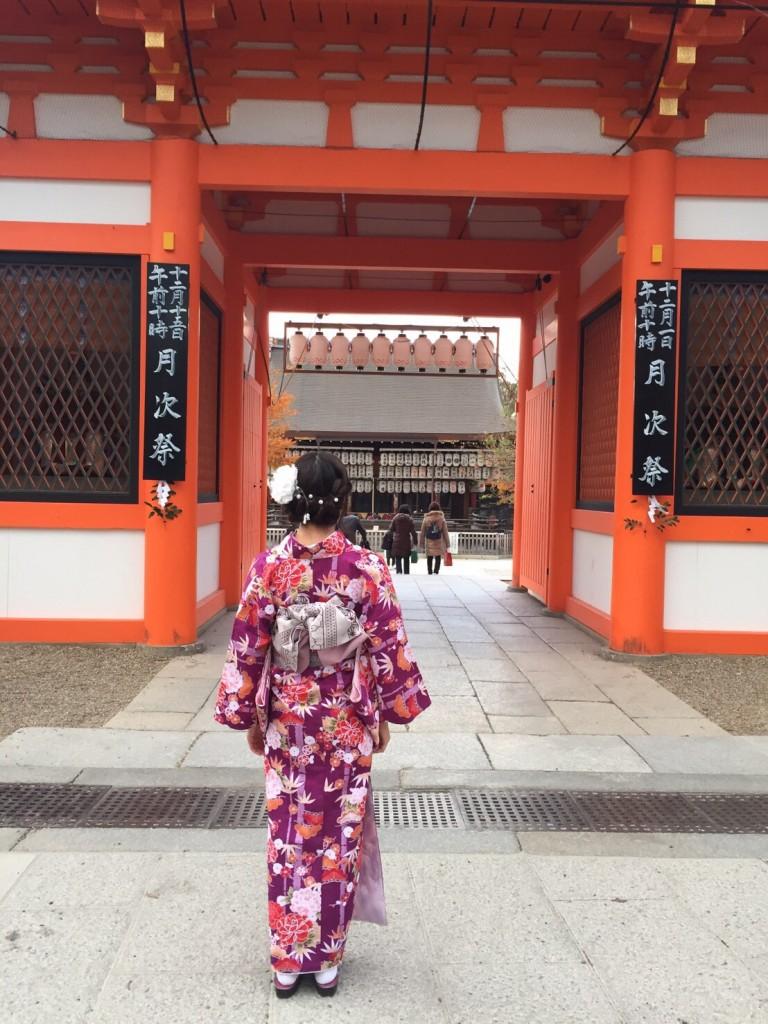 紅葉シーズンに京都修学旅行♪2017年11月30日11