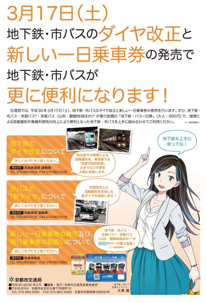 新しい京都のバス・地下鉄一日乗車券