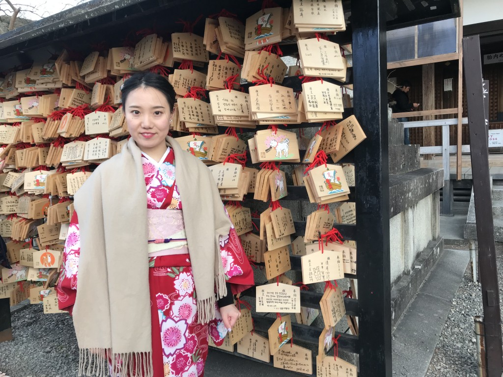 中国から清水寺など東山を散策♪2018年2月5日2