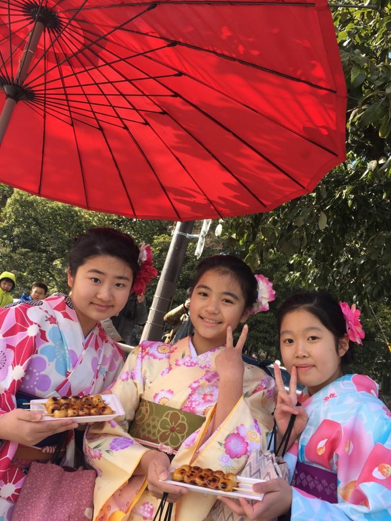 台湾からの留学生と着物レンタルで金閣寺へ❣2018年2月3日5