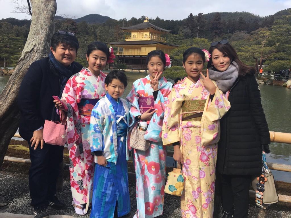 台湾からの留学生と着物レンタルで金閣寺へ❣2018年2月3日1