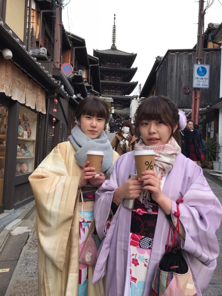 %のマーク❣アラビカ京都並んで来ましたぁ♪2018年2月11日8