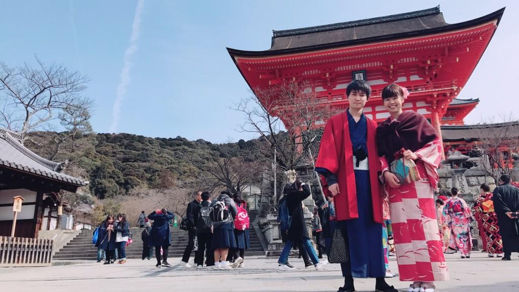 カップル様❣卒業旅行で南禅寺水路閣へ♪2018年2月22日8