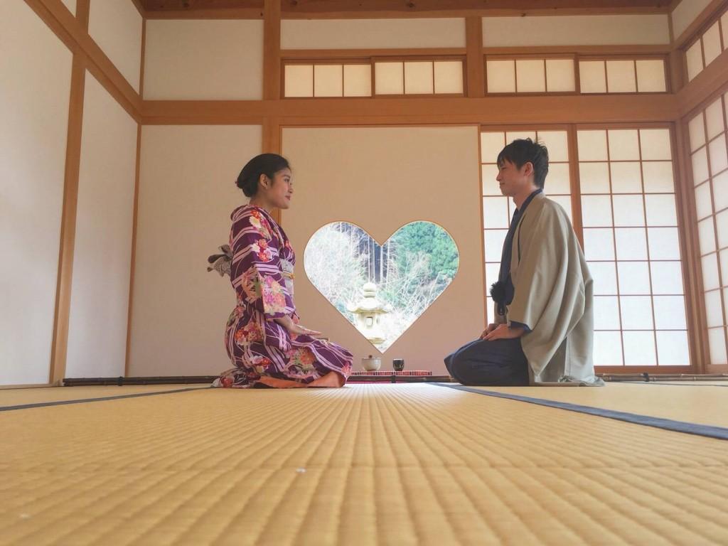 カップルでハート型窓の正寿院へ♡2018年2月25日6