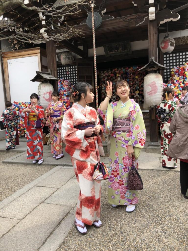 嵐山竹林の小径とキモノフォレスト♡2018年2月28日2