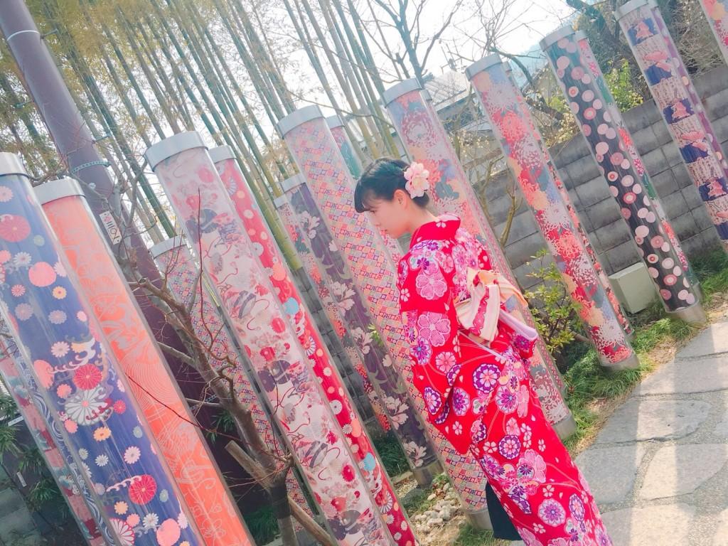 嵐山竹林の小径とキモノフォレスト♡2018年2月28日6