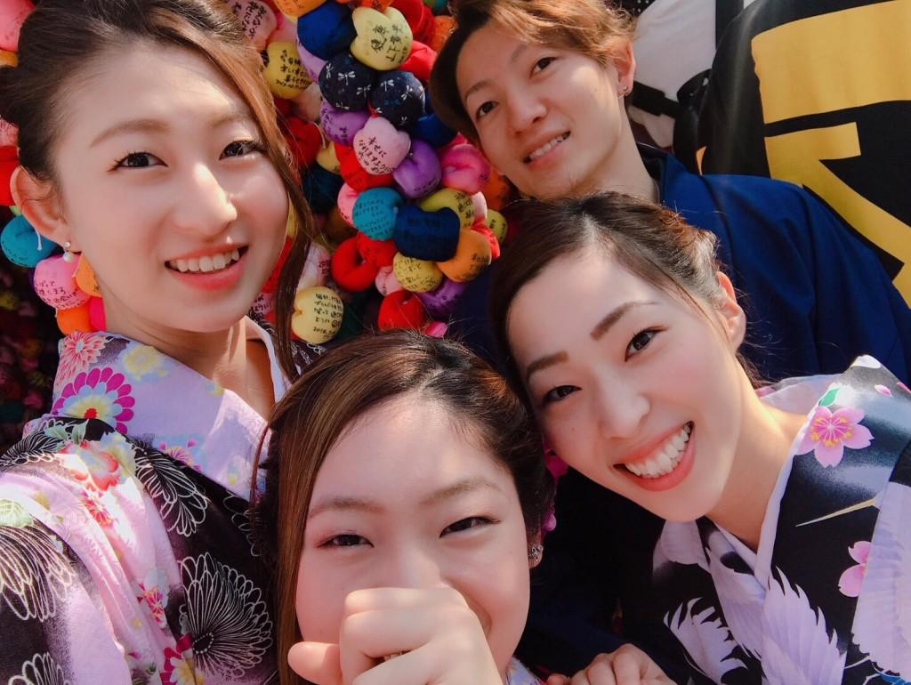 円山公園は桜満開です♡2018年3月27日11