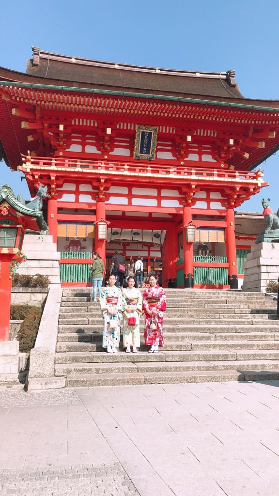 学生さん❣春休みに着物で京都の桜を満喫♪2018年3月28日1