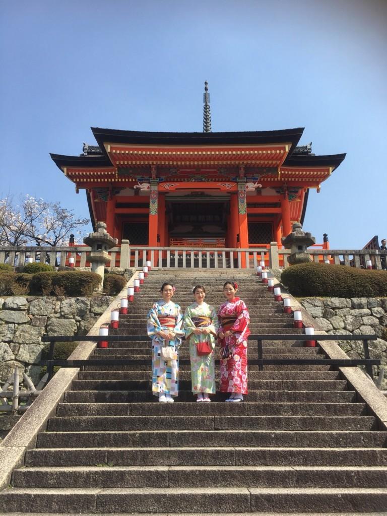学生さん❣春休みに着物で京都の桜を満喫♪2018年3月28日3