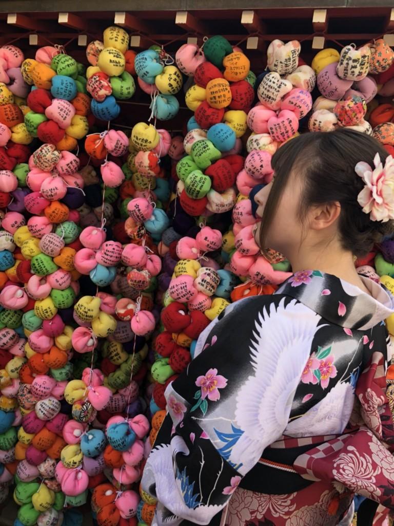 学生さん❣春休みに着物で京都の桜を満喫♪2018年3月28日10