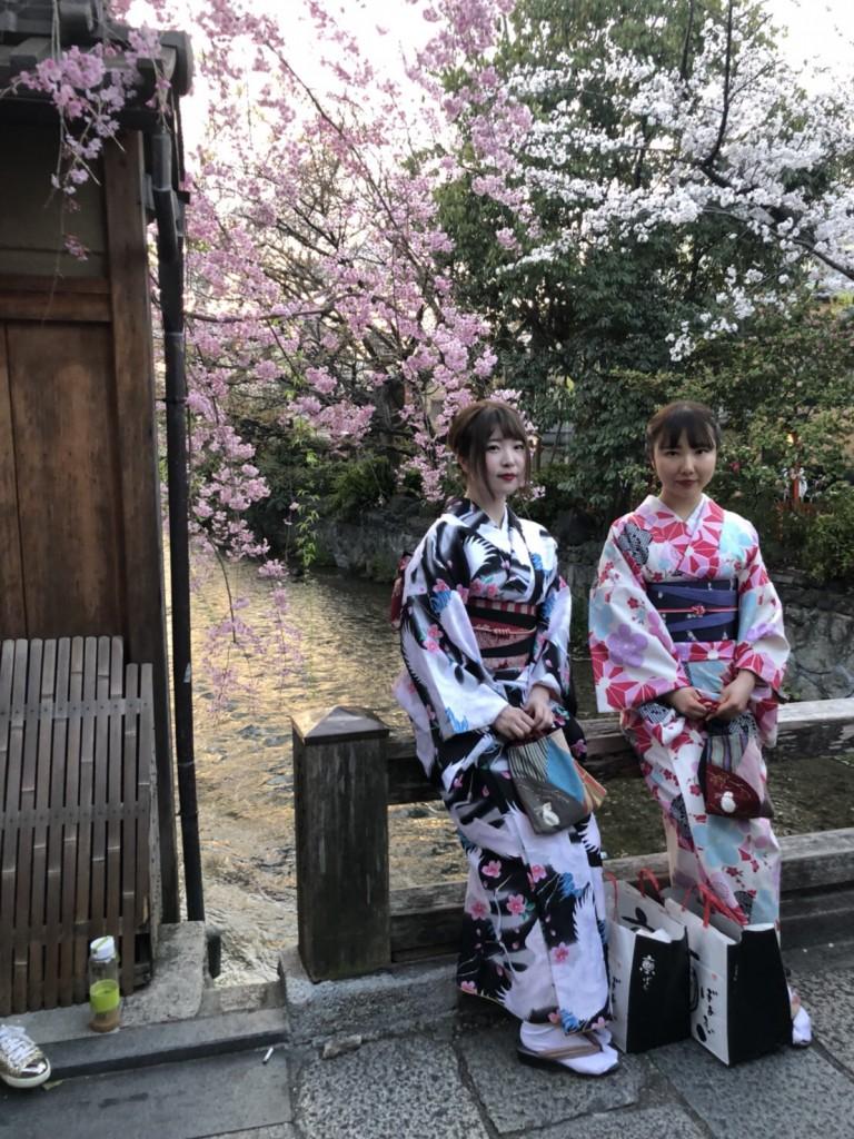 学生さん❣春休みに着物で京都の桜を満喫♪2018年3月28日12