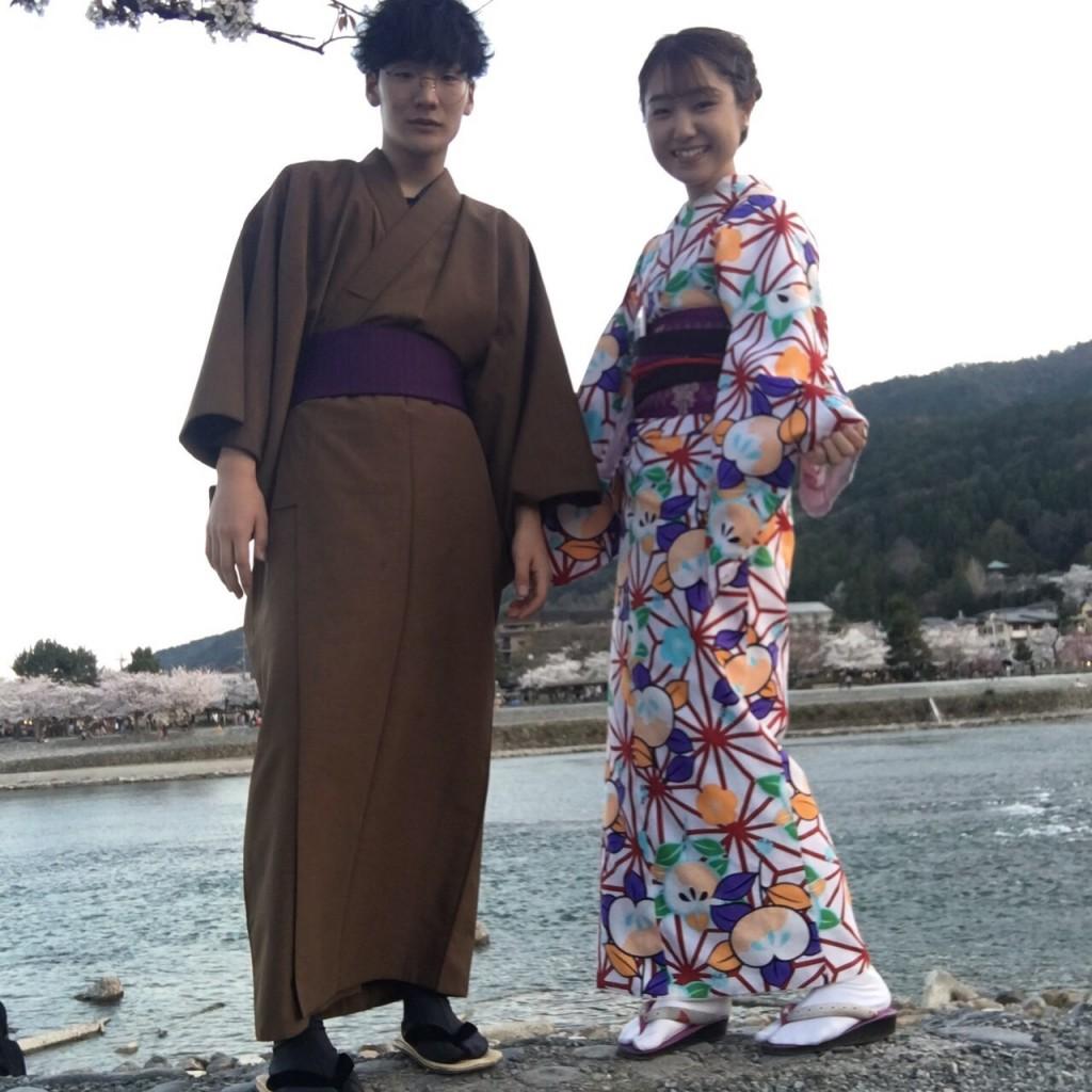 学生さん❣春休みに着物で京都の桜を満喫♪2018年3月28日14