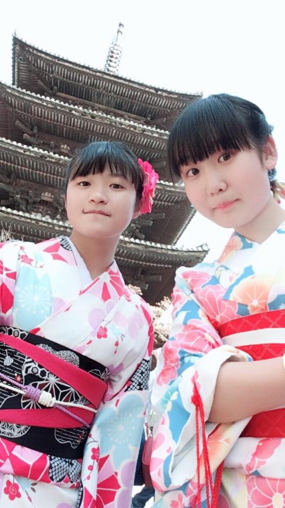 学生さん❣春休みに着物で京都の桜を満喫♪2018年3月28日16