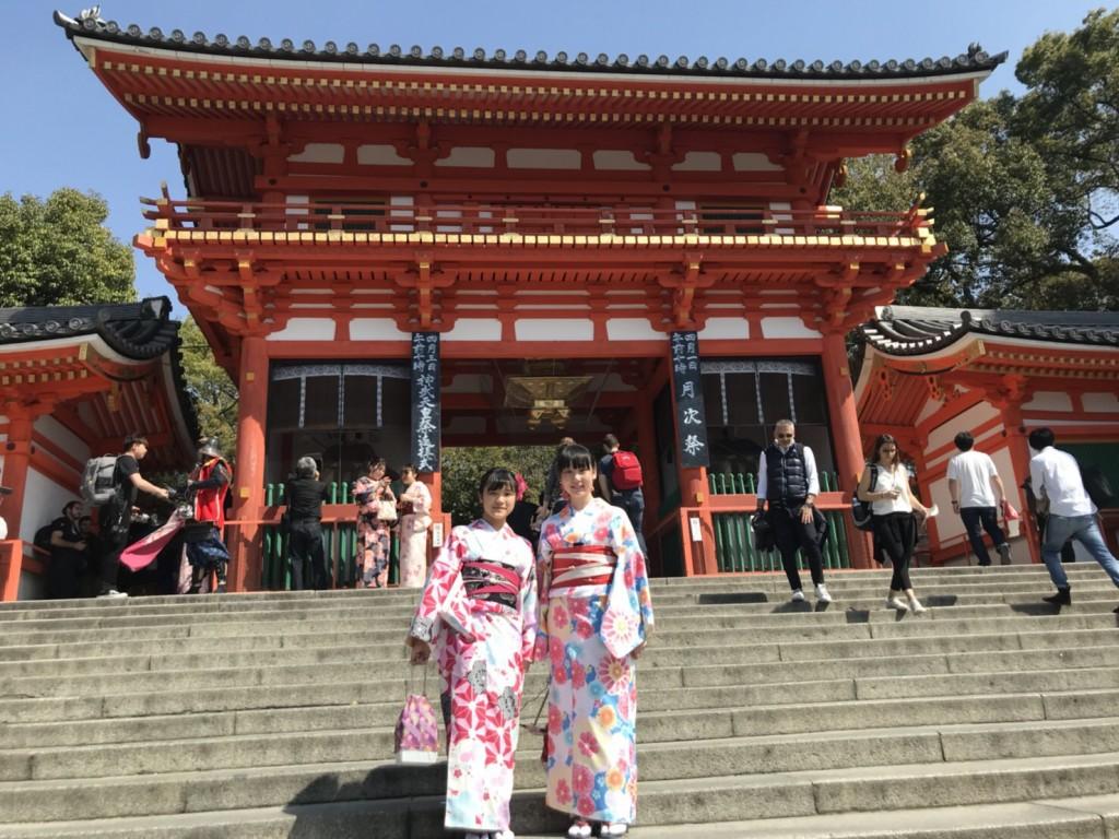 学生さん❣春休みに着物で京都の桜を満喫♪2018年3月28日17