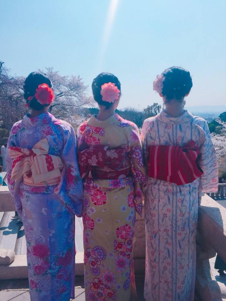 学生さん❣春休みに着物で京都の桜を満喫♪2018年3月28日25