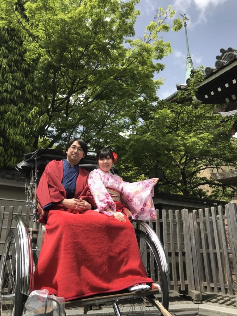 新緑の京都東山を人力車で観光(^^♪2018年4月16日1