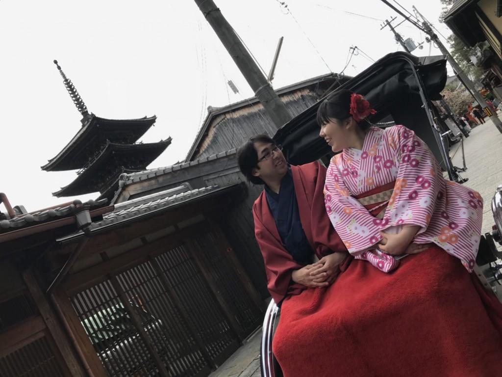新緑の京都東山を人力車で観光(^^♪2018年4月16日2