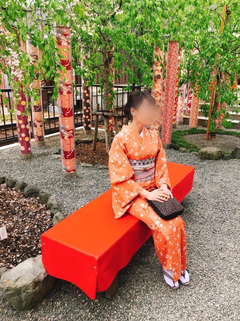 着物で一日、嵯峨嵐山を観光♪2018年4月17日1