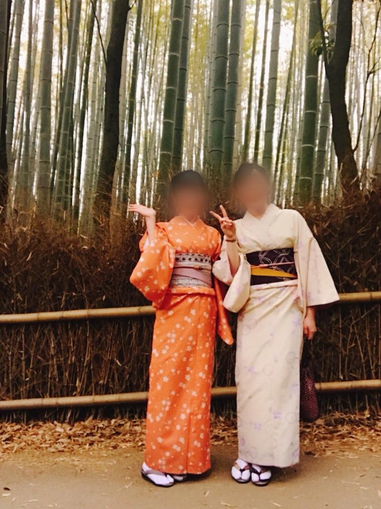 着物で一日、嵯峨嵐山を観光♪2018年4月17日2