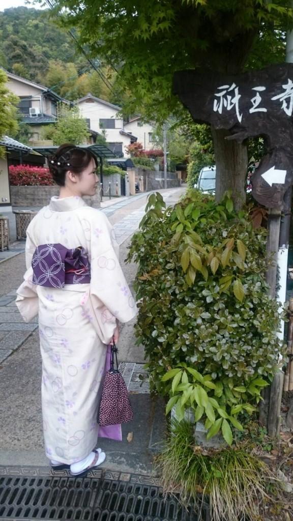 着物で一日、嵯峨嵐山を観光♪2018年4月17日5