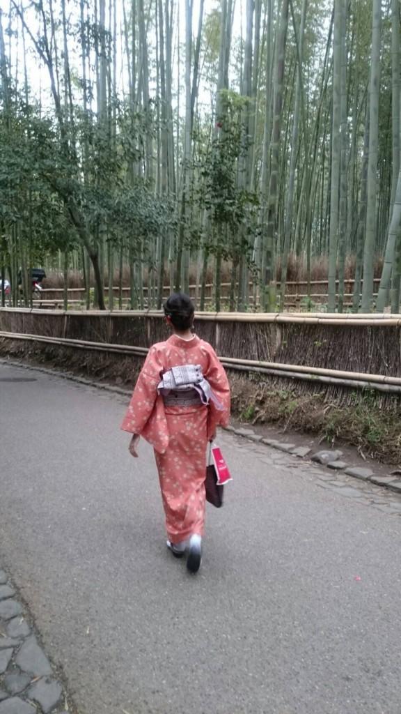 着物で一日、嵯峨嵐山を観光♪2018年4月17日3