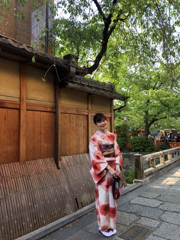 4月ですが夏日の京都を着物で楽しみましたぁ♪2018年4月21日3