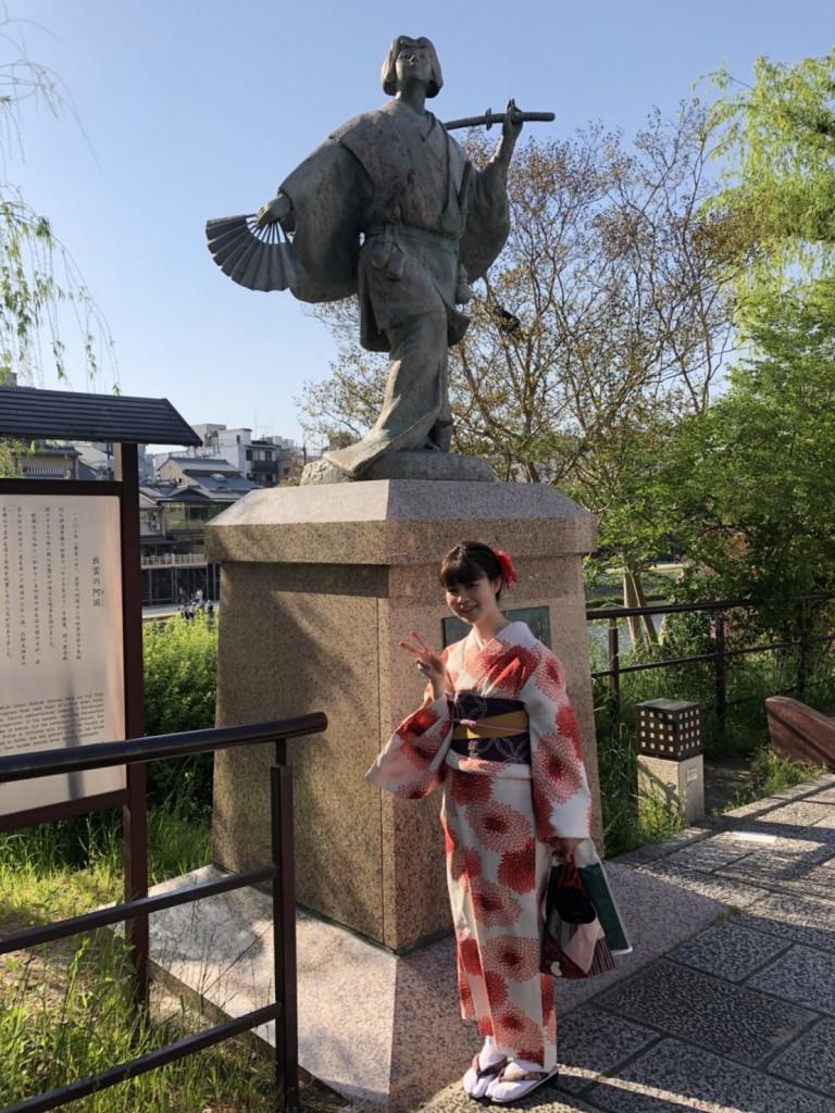 4月ですが夏日の京都を着物で楽しみましたぁ♪2018年4月21日2