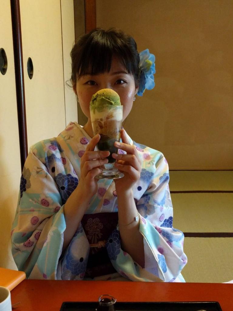 4月ですが夏日の京都を着物で楽しみましたぁ♪2018年4月21日4