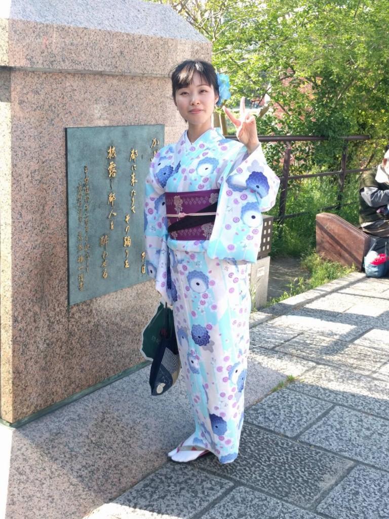 4月ですが夏日の京都を着物で楽しみましたぁ♪2018年4月21日1