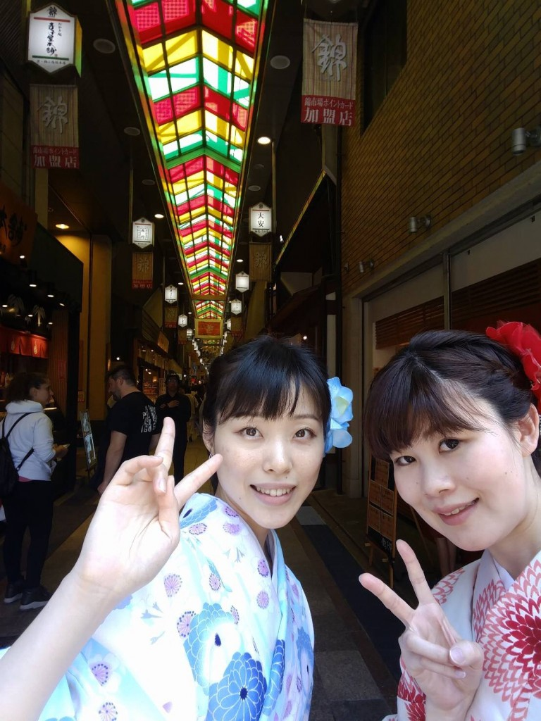 4月ですが夏日の京都を着物で楽しみましたぁ♪2018年4月21日6