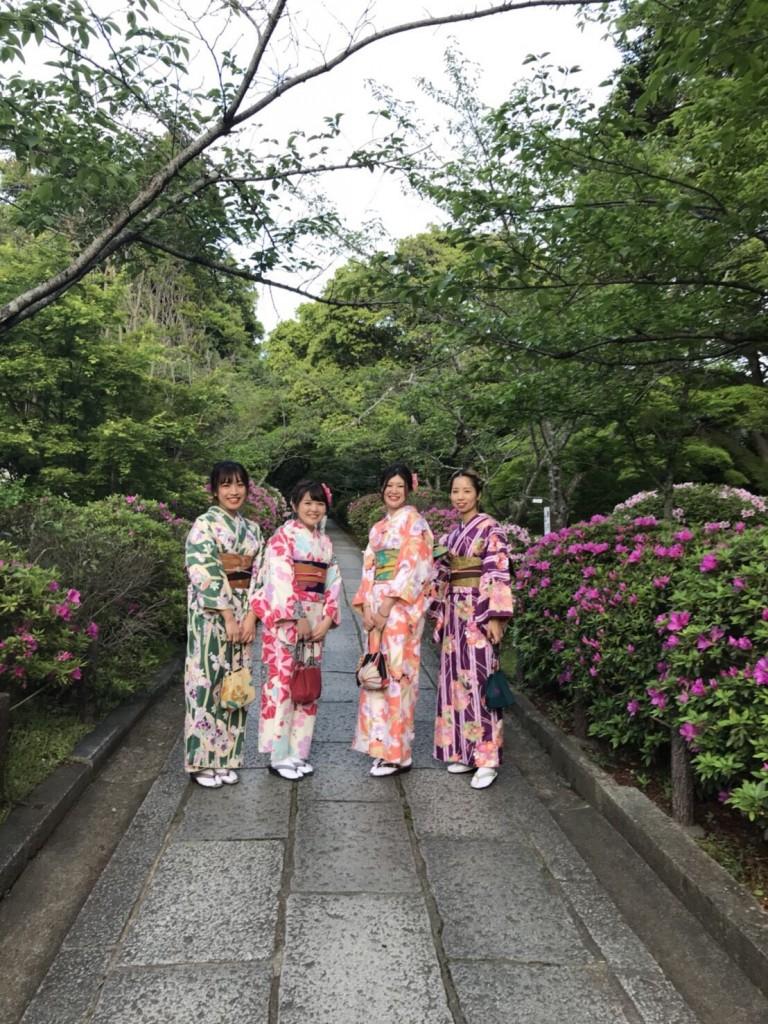 同僚とお休み合わせて京都で着物レンタル♪2018年4月26日2