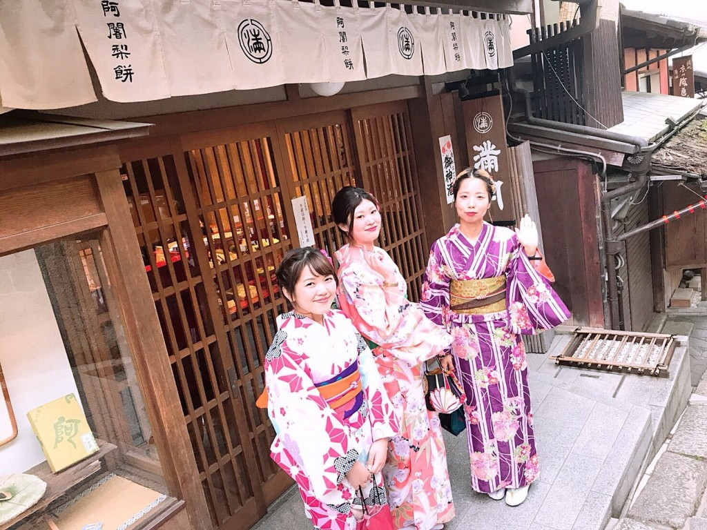 同僚とお休み合わせて京都で着物レンタル♪2018年4月26日3