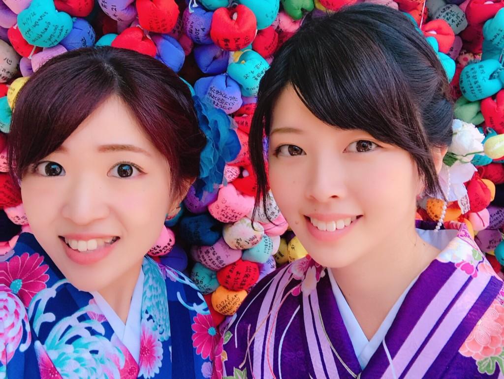 姉妹店浅草着物レンタル古都を複数回ご利用のお客様ご来店♡2018年4月28日4