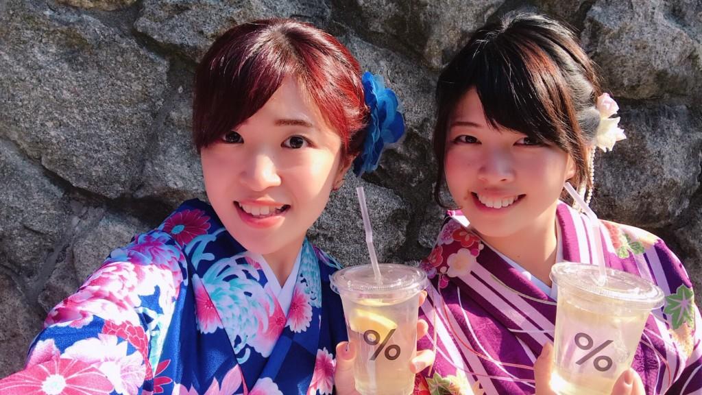 姉妹店浅草着物レンタル古都を複数回ご利用のお客様ご来店♡2018年4月28日5