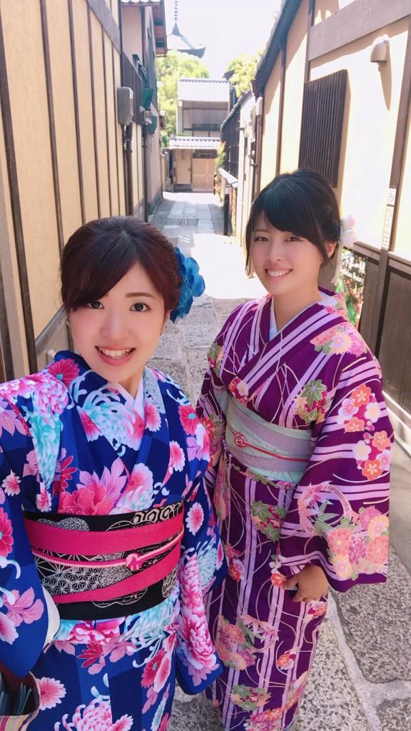 姉妹店浅草着物レンタル古都を複数回ご利用のお客様ご来店♡2018年4月28日6