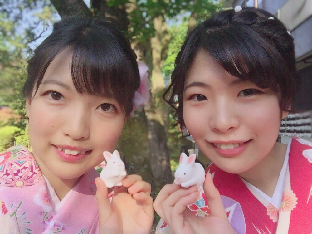 姉妹店浅草着物レンタル古都を複数回ご利用のお客様ご来店♡2018年4月28日8