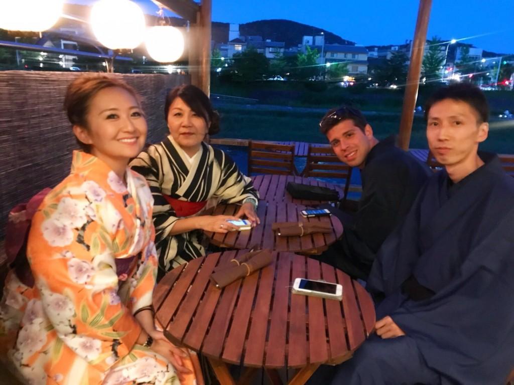 着物で鴨川納涼床ディナー♡2018年5月22日5