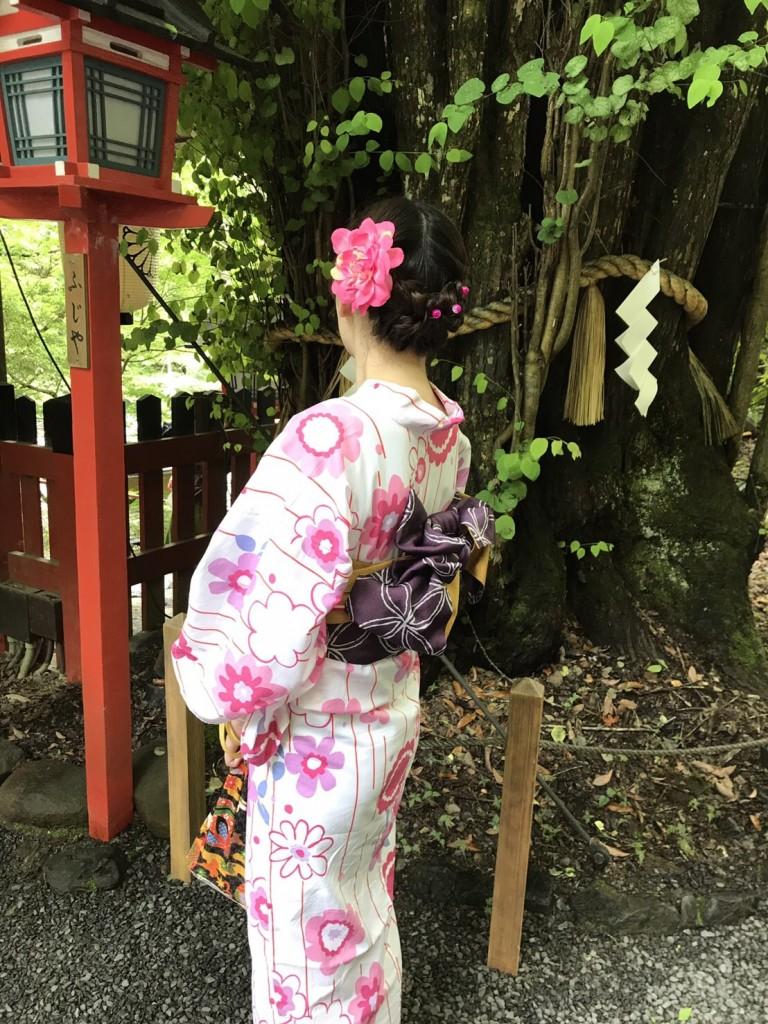 浴衣レンタルで貴船神社へ(^^♪2018年6月7日2