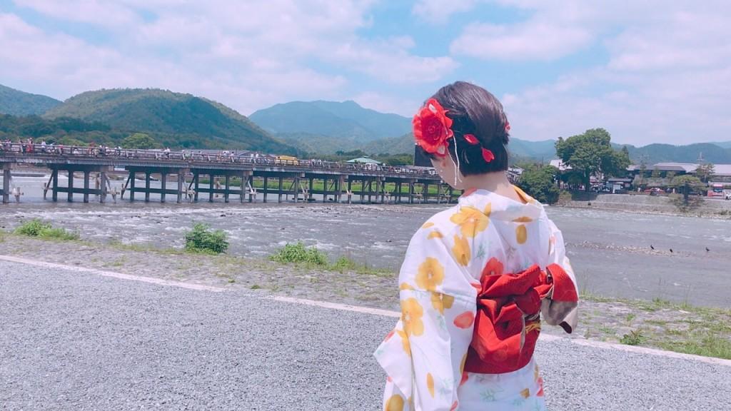 浴衣レンタルで嵐山へ(^^♪2018年6月9日1