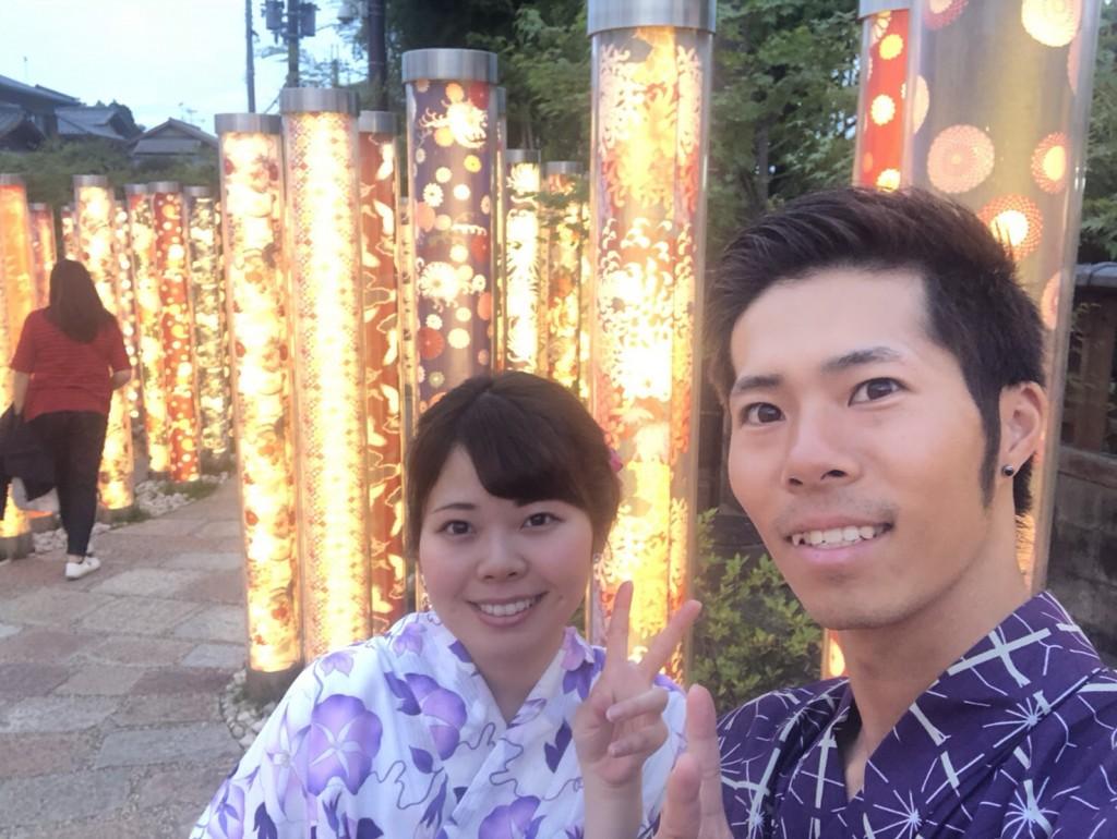 皆様、夜遅くまで浴衣で京都を満喫♪2018年6月17日7