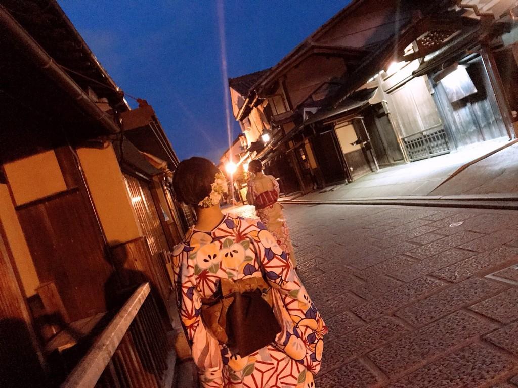 皆様、夜遅くまで浴衣で京都を満喫♪2018年6月17日16