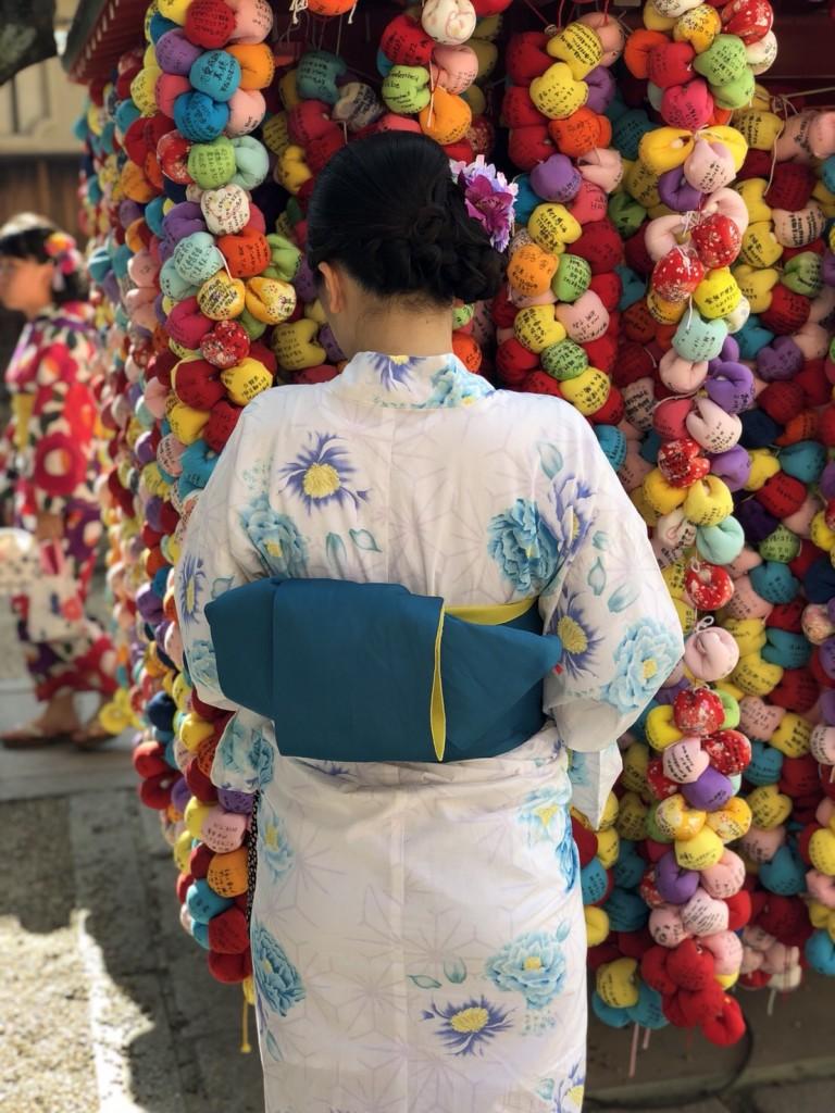 暑さに負けず、浴衣で京都観光(^^♪2018年7月22日10