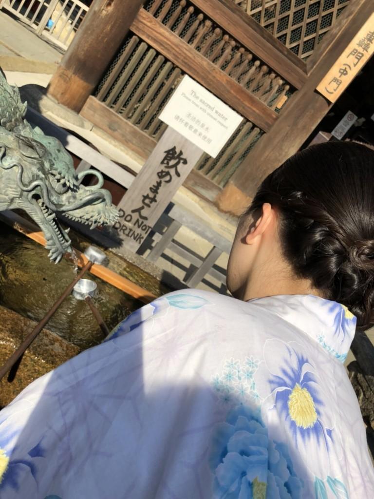 暑さに負けず、浴衣で京都観光(^^♪2018年7月22日12