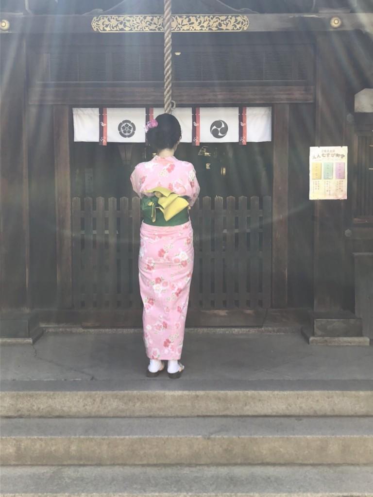 暑さに負けず、浴衣で京都観光(^^♪2018年7月22日14