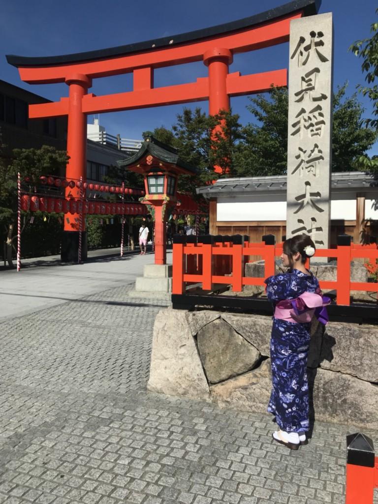 暑さに負けず、浴衣で京都観光(^^♪2018年7月22日17
