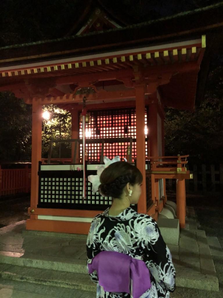 暑さに負けず、浴衣で京都観光(^^♪2018年7月22日19